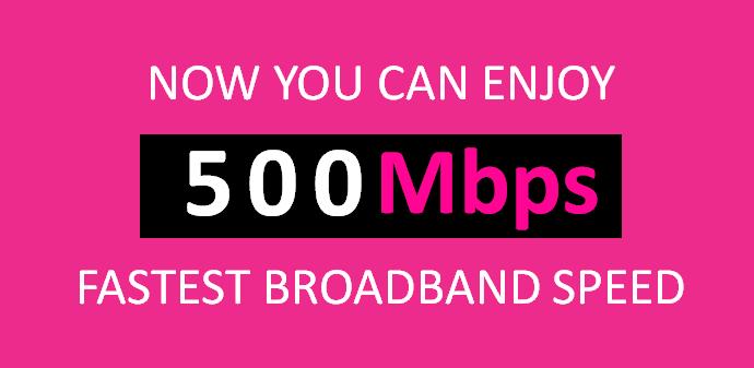 500Mbps TIME Fibre Promotion