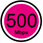 500Mbps time fibre broadband