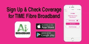 TIME fibre internet app