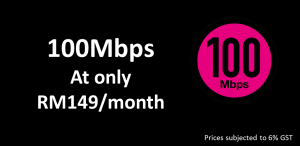 100Mbps TIME broadband Promotion