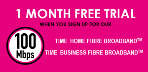 TIME fibre Broadband free trial