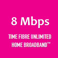 Time Fibre Broadband Home 8Mbps