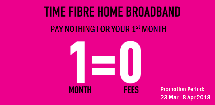 TIME Home Fibre promotion mar2018