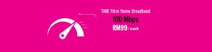 TIME Fibre broadband 100Mbps