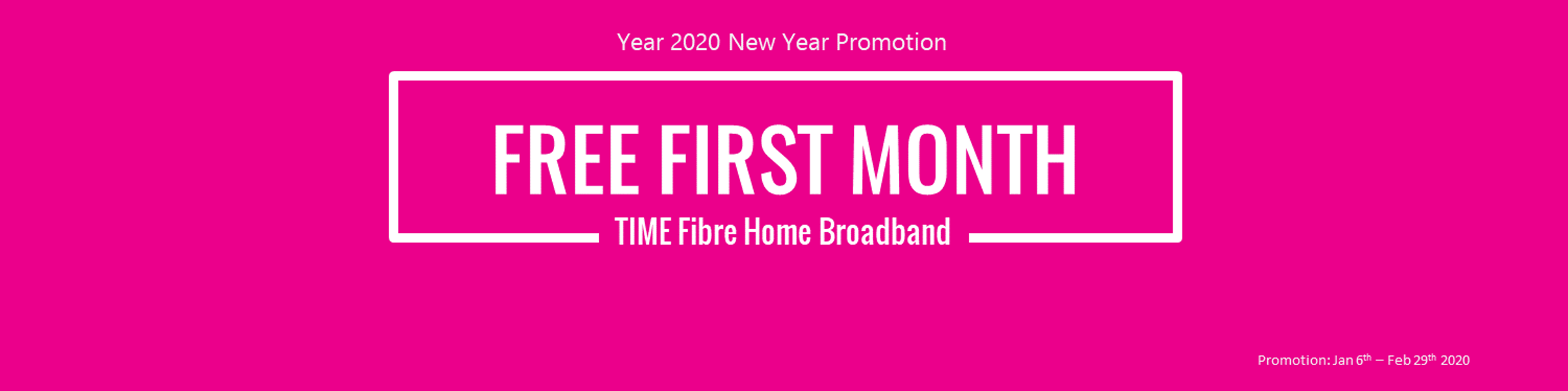 TIme Fibre Free First Month